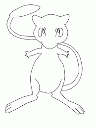 mew coloring page coloring home