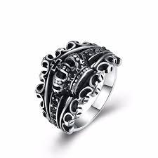 mens crown rings images Mens crown rings black royal king crown vintage rings for men boys jpg