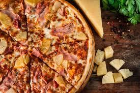 cuisine italienne pizza cuisine italienne fin hawaïenne de pizza vers le haut de vue image