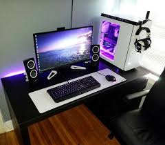 Gaming Station Desk Im Just A For This Tech Pinterest