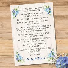 blue cream floral watercolour wedding invitation set elisa by design
