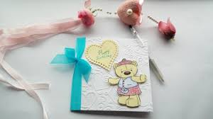 handmade new baby card boy personalised newborn card birthday