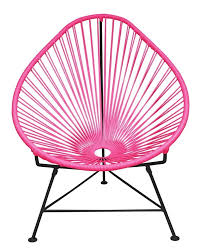 Pink Papasan Cushion by Amazon Com Innit Designs Acapulco Chair Pink Weave On Black
