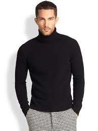 mens turtleneck sweater lyst ami wool turtleneck sweater in black for