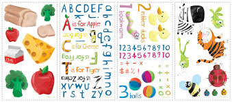 Letter Wall Decals For Nursery by Amazon Com Roommates Rmk1185scs Education Station Peel U0026 Stick