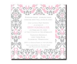 pink and grey baby shower invitations cloveranddot com
