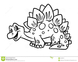 dinosaur stegosaurus coloring pages stock photo image 35333270