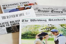 Newspaper Wedding Program Diy Save The Date
