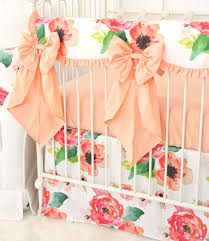 Harlow Crib Bedding by Close Up View Of Boho Chic Baby Girl Nursery Bedding With Large