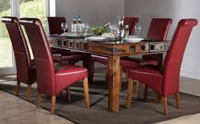 Leather Dining Room Furniture Leather Dining Room Chairs A Touch Of Class And Elegance In
