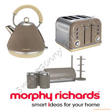 Brushed Stainless Steel Kettle And Toaster Set Morphy Richards 4 Slice Toaster Heating Morphy Richards Morphy