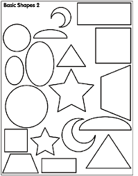 Basic Shapes 2 Coloring Page Crayola Com Coloring Pages Shapes