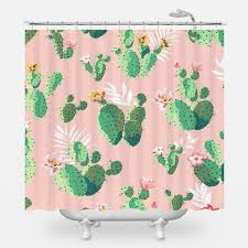 Pink Green Shower Curtain Pink And Green Shower Curtain Curtains Ideas