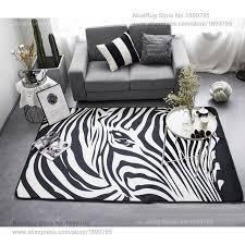 chambre zebre et géométrique noir blanc zèbre é tapis salon chambre à coucher