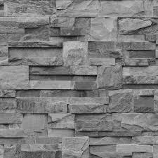 stone brick muriva bluff slate stone brick effect wallpaper j27409 grey i