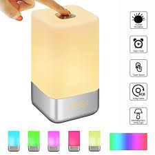 best light up alarm clock glime wake up light alarm clock touch control beside l with