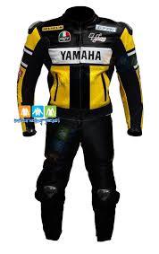 black motorbike jacket yamaha rossi yellow black motorbike two piece suit jacket men