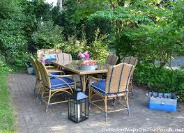 Backyard Collections Patio Furniture by Dining In A Secret Garden The Oleander Collection By Martha Stewart