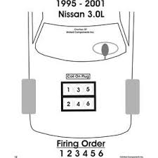 solved firing order diagram for nissan maxima 3l v6 1995 fixya