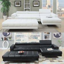 Leather Tufted Sectional Sofa Bonded Leather Sectional Sofas Loveseats U0026 Chaises Ebay