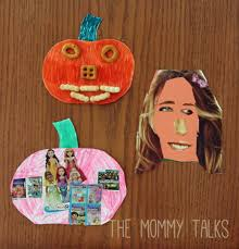 mini paper pumpkin collages the mommy talks