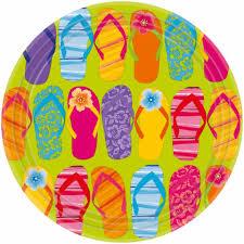 vaisselle jetable fete décoration de fête tropical holly party