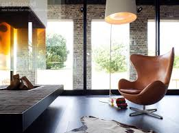 egg chair by arne jacobsen vintage tan leather platinum replica