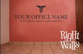 veterinarian business name wall decal decor custom