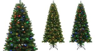 lowe s 7 5 ft alpine artificial tree w color changing