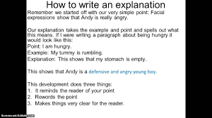 how to write an explanation youtube