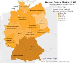 Cold War Germany Map by Geographical Patterns In The German Federal Election Of 2013