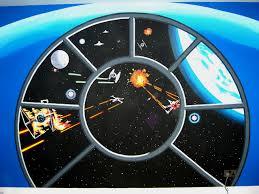 Star Wars Bedroom Furniture by Star War Wallpaper Star Wars Mural My Son Room Pinterest