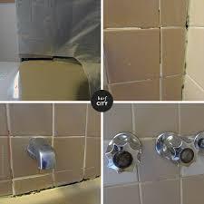 Best Caulk For Bathtub Dealing With Nasty Grout U0026 Caulk In The Apartment Bathroom Door