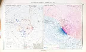 Declination Map Map Of Magnetic Fields In Antarctica 1960 2048 X 1236 Mapporn