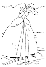 cinderella colouring coloring pages kids