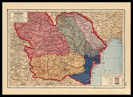 1914 World Map by War One Map Of Romania Rumania 1914 1918