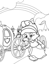 baby cinderella coloring pages coloring