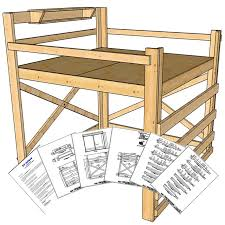 Free Loft Bed Plans Full by Best 25 King Size Bunk Bed Ideas On Pinterest Bunk Bed King