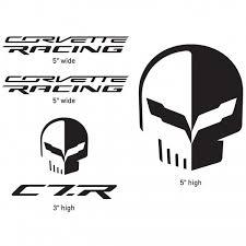 corvette racing stickers racing jake decal pack black