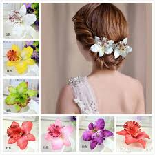 flower hair pins 2016 new fashion women s phalaenopsis orchid artificial flowers