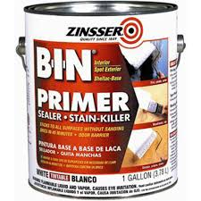 best stain blocking primer for cabinets zinsser 1 gal b i n shellac based white interior primer and sealer