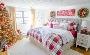 54 inspiring christmas bedroom décoration ideas round decor
