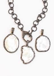 diamond necklace charms images Pave diamond lobster round chain necklace cindy ensor designs jpg