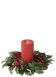 6inch metallic berry candle ring christmas decorating ideas copper