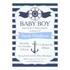 baby boy shower invitations nautical baby shower invitations announcements zazzle