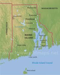 map rhode island physical map of rhode island