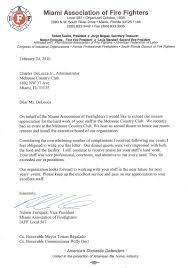 appreciation letter to chef miami international links melreese country club