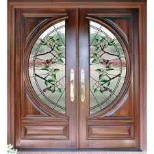 glass wood doors designer front doors stained glass wood door manufacturer from