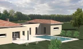 plan maison contemporaine plain pied 3 chambres maison moderne plain pied 4 chambres 3 construction 86 fr gt plan