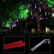 outdoor string lights rain 50cm meteor shower rain 8 tube waterproof led string lights outdoor